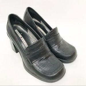 Vintage Tommy Hilfiger Black Leather Clogs